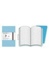 Volant Cyan Pkt Ruled (2 Pack) Stationery