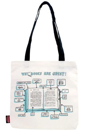 Tote Bag: Why (real) Books are Great in New Arrivals! New Arrivals ...