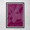 Poster: NYC Map Art New York Souvenirs