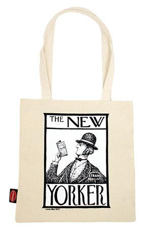 Tote Bag: NYer (White) Go Read a Book
